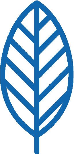 icône d'une feuille bleue