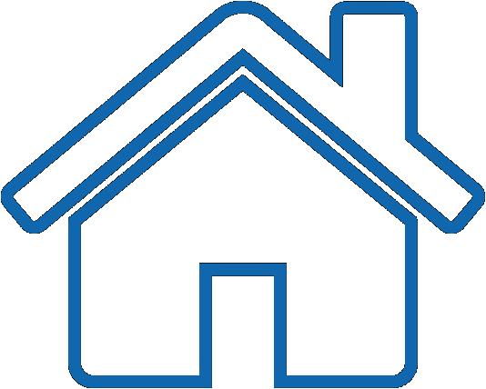 icône d'une maison bleue