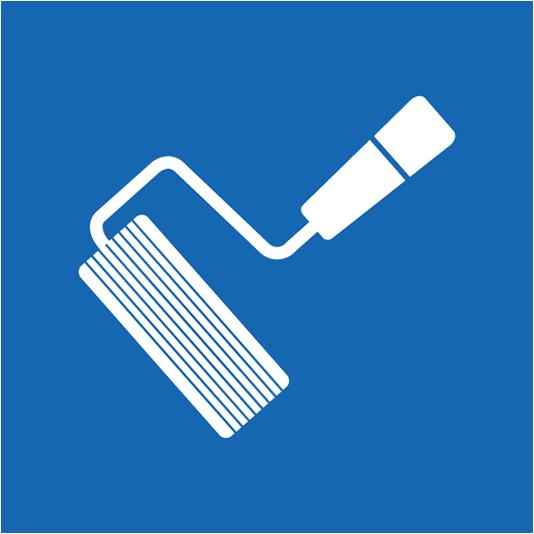 icône d'un rouleau de peinture