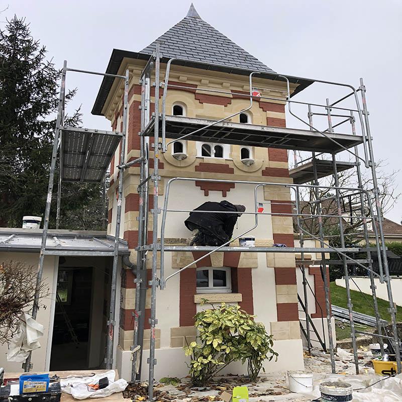 bâtiment pendant les travaux