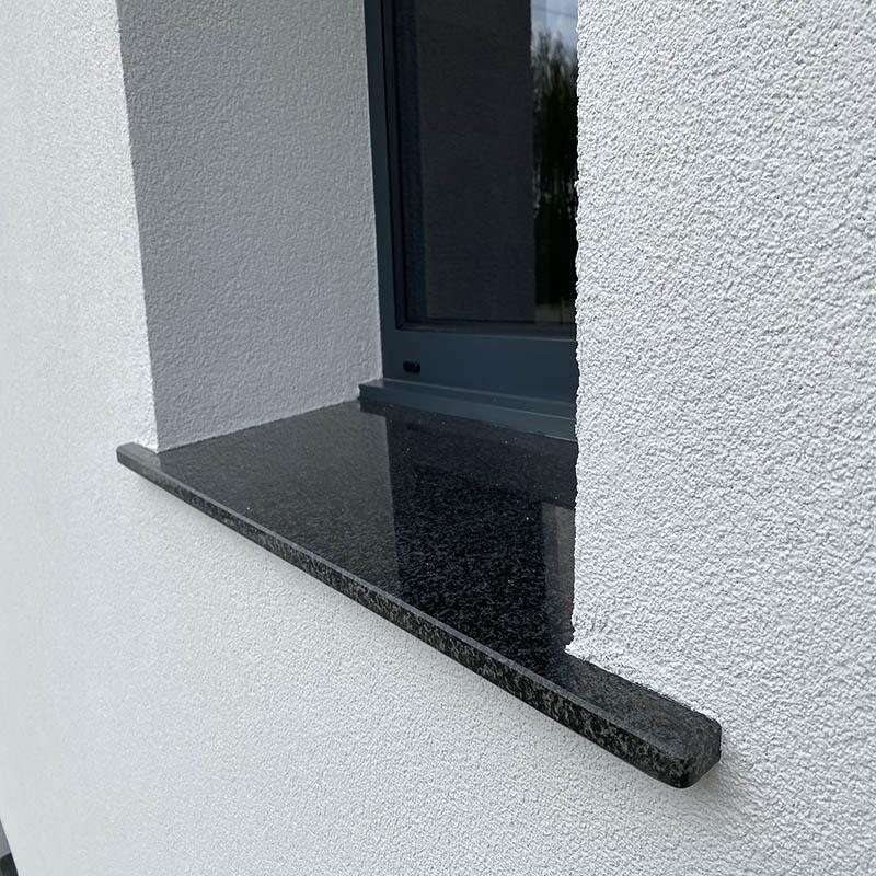 appui de fenêtre en granit noir