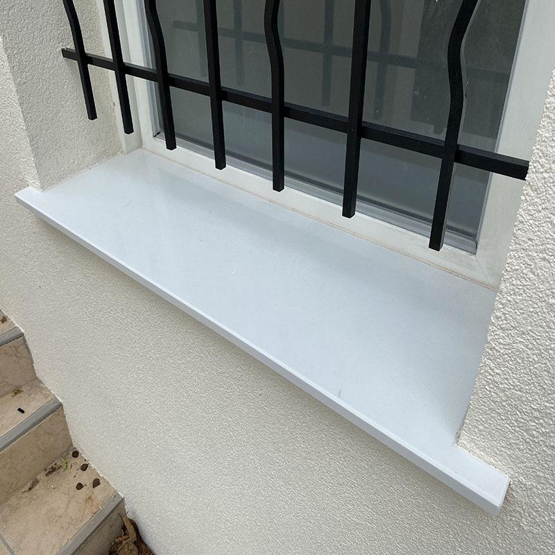 appui de fenêtre en quartz blanc
