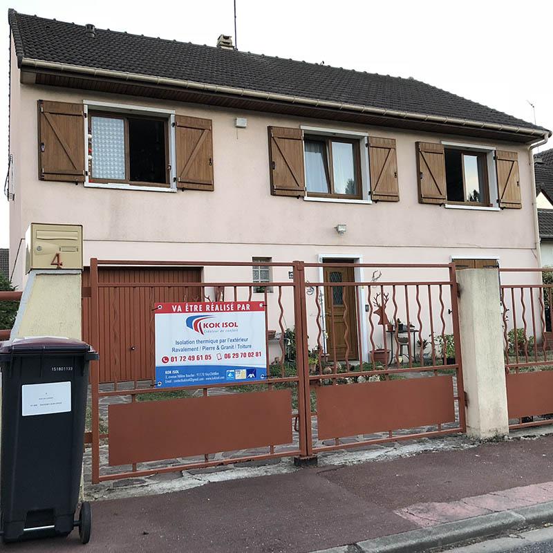 photo de l'avant maison avant l'isolation kokisol