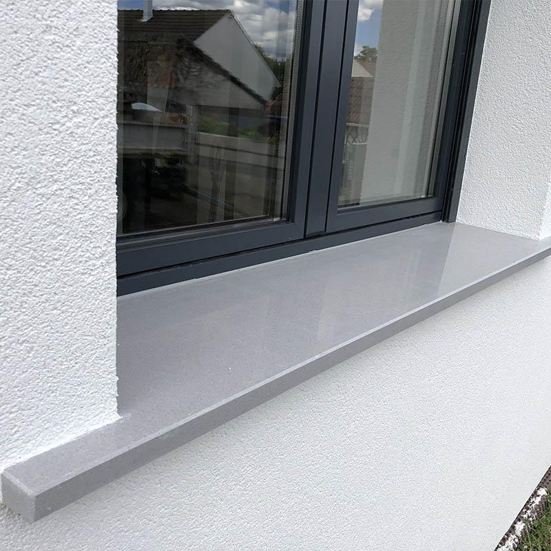 appui de fenêtre en granit gris