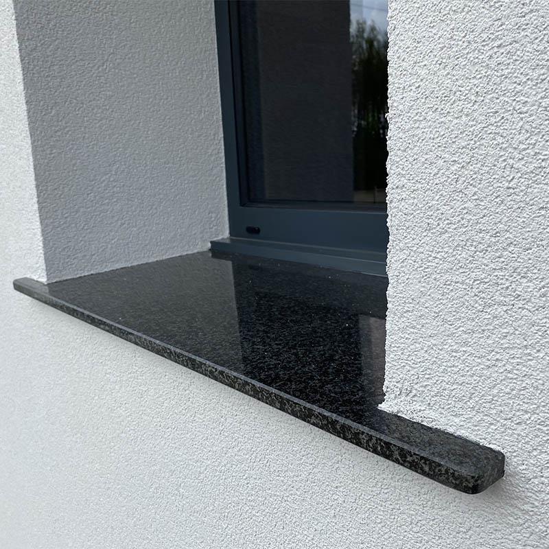 appui de fenêtre en pierre de granit noir