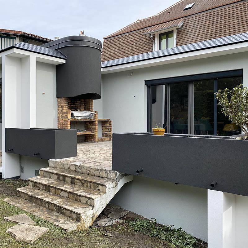 photo d'une maison après ravalement de façade